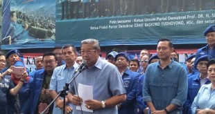 SBY saat memberika keterangan ke awak media (Foto: Fadel/Okezone)