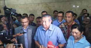 SBY saat berada di Bareskrim Mabes Polri (Foto: Fadel/Okezone)