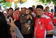Cagubsu Edy Rahmayadi saat hadir diacara silaturahim yang digelar Ladon Club, Minggu (18/3). (WOL Photo/Ist)