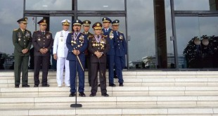 Panglima TNI Masekal TNI Hada Tjahjanto Bersama Jajaran TNI dan Kapolri di Mabes TNI, Cilangkap, Jakarta Timur (foto: Puteranegara B/Okezone)