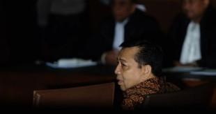 Terdakwa kasus korupsi e-KTP, Setya Novanto (foto: Okezone)