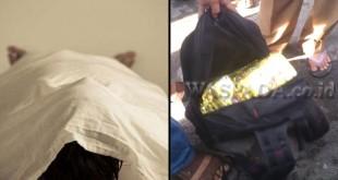 Ilustrasi jenazah (kiri/Ist). Barang bukti puluhan kilo sabu yang disimpan di dalam tas ransel warna hitam. (kanan/WOL Photo)