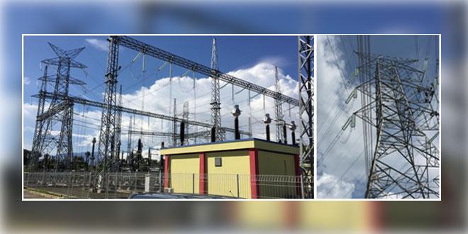 GITET Padang Sidempuan (kiri) dan Kegiatan normalisasi T/L 275 kV Sarulla – Padang Sidempuan