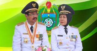 Gubsu Dr Ir H. Tengku Erry Nuradi MSi dan Wagubsu Dr Hj. Nurhajizah Marpaung SH MH.