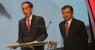 Presiden Joko Widodo dan Wakil Presiden Jusuf Kalla (Foto: Okezone)