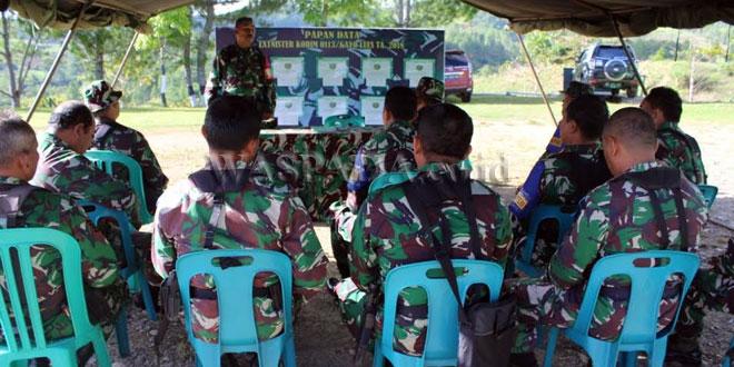 Dandim 0113 Gayo Lues Letkol Inf M. Faizal Nasution saat berikan pelatihan Latnister pada Jajaran Komando Prajurit Kodim 0113, Rabu (21/3) di Aula Makodim. (WOL Photo/Bustanuddin)