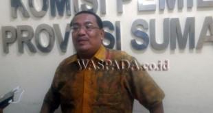 Komisioner KPU Sumut, Iskandar Zulkarnain. (WOL Photo)