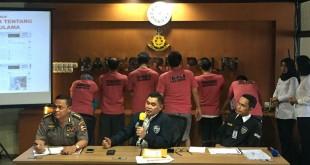 Bareskrim merilis penangkapan sindikat penyebar kebencian MCA (Harits/Okezone)