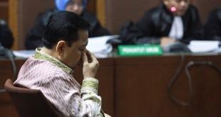 Setya Novanto jalani sidang tuntutan kasus korupsi E-KTP. (Foto: Antara/Muhammad Adimaja)