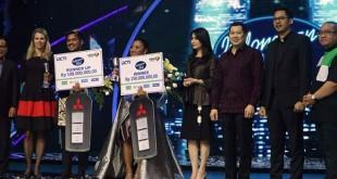 Maria berhasil mengungguli Ahmad Abdul asal Bali yang merupakan lawannya di malam Grand Final Indonesian Idol 2018. (foto: twitter)