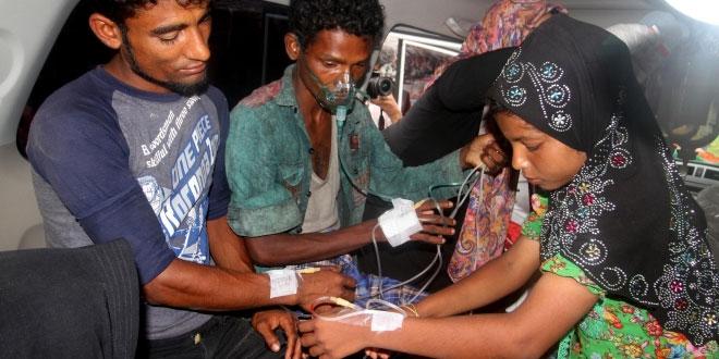 Muslim Rohingya yang terdampar di Aceh. (Foto: Antara)