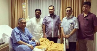 Ketua MPR Zulkifli Hasan bersama rekannya menjenguk Din Syamsuddin di rumah sakit (Foto: Instagram)