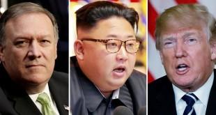 Direktur CIA, Mike Pompeo; Pemimpin Tertinggi Korea Utara, Kim Jong-un; dan Presiden AS, Donald Trump (Foto: Reuters)