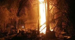 Ledakan tambang minyak ilegal di Aceh. (Foto: Ist)