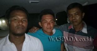 Timsus Reskrim Polres Belabuhan Belawan tangkap tersangka pembunuhan terhadap, M. Ali diduga melakukan pencurian garam. (WOL Photo/Gacok)