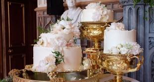 Kue pernikahan Pangeran Harry dan Meghan Markle (Foto: Twitter)