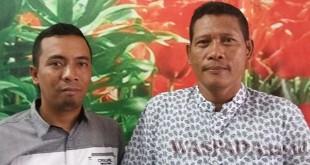 Pimpinan PT ICP Koes Tommi Diarto didampingi Humas Martin Siahaan ST, beri keterangan pers kepada Waspada Online. (WOL Photo/Gacok).