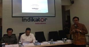 Rilis Survei Indikator Indonesia (Foto: Harits Tryan)