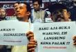 Sekelompok elemen masyarakat saat mendeklarasikan Gerakan Anti Premanisme (GERAM), di Kafe White Haus, Jalan Wahid Hasyim, Medan, Jumat (25/5). (WOL Photo/Ist)