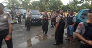 Kondisi Pasca-Penyerangan OTK di Polsek Muaro Sebo, Jambi (foto: Azhari/Okezone)