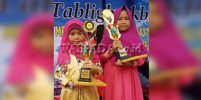 Nuraziizah dan Nurfaizah Banggakan Keluarga Ginting. (WOL Photo)