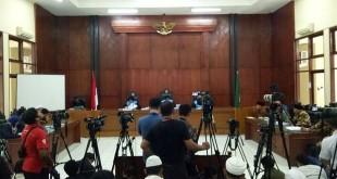 Sidang putusan pembubaran HTI di PTUN, Jakarta Timur, Senin (7/5/2018). (Foto: Puteranegara Batubara/Okezone)