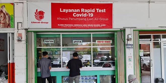 Calon Penumpang Kecewa Klinik Cempaka Lima Banda Aceh Tolak Rapid Test Gratis Lion Air Waspada Online Pusat Berita Dan Informasi Medan Sumut Aceh