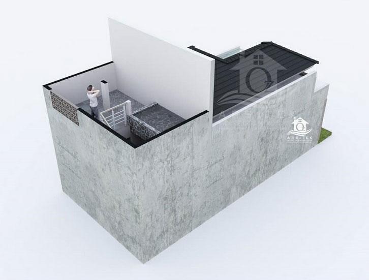 desain rumah 6x12