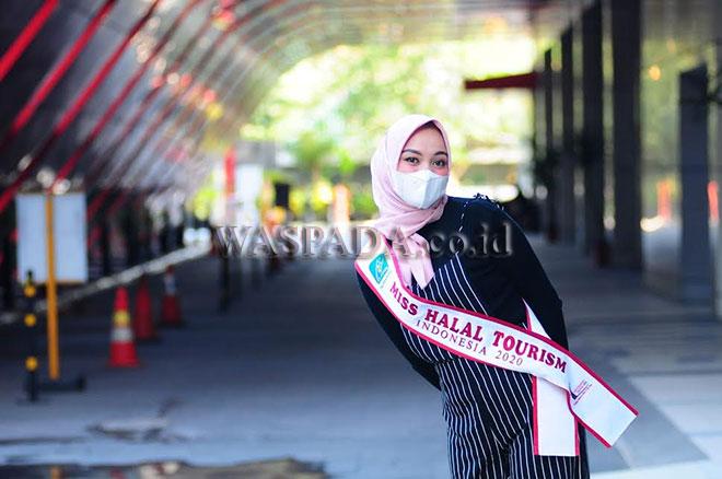 Miss Halal Tourism Indonesia 2020 asal Provinsi Aceh, Alfinda Triyanti. (WOL Photo/Ega Ibra)